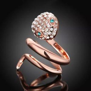 Jewelry - BRAND NEW Rose Gold CZ Snake Wraparound Ring